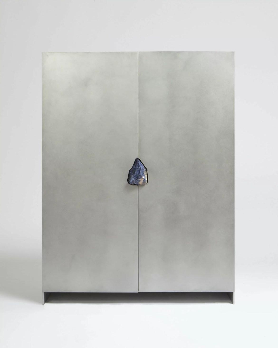 Maison et Objet 2020, Pierre de Valck, Cabinet with stone, Belgium Design booth