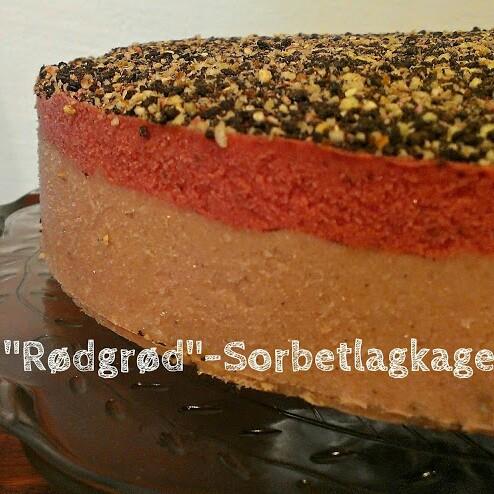 Redberry Sorbet Cake