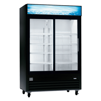 KCGM47R-738009 47 CU. FT. Double Sliding Glass Door Commercial Refrigerator by Kelvinator