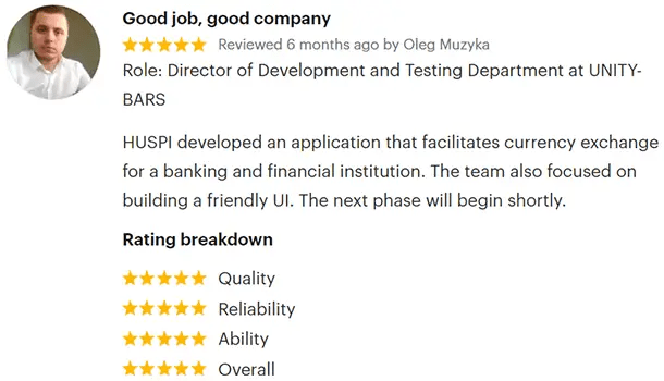 GoodFirms Review by Oleg