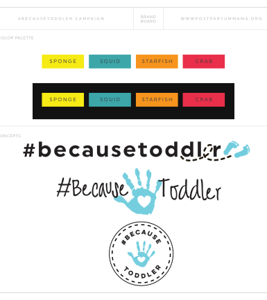 _because toddler brand board