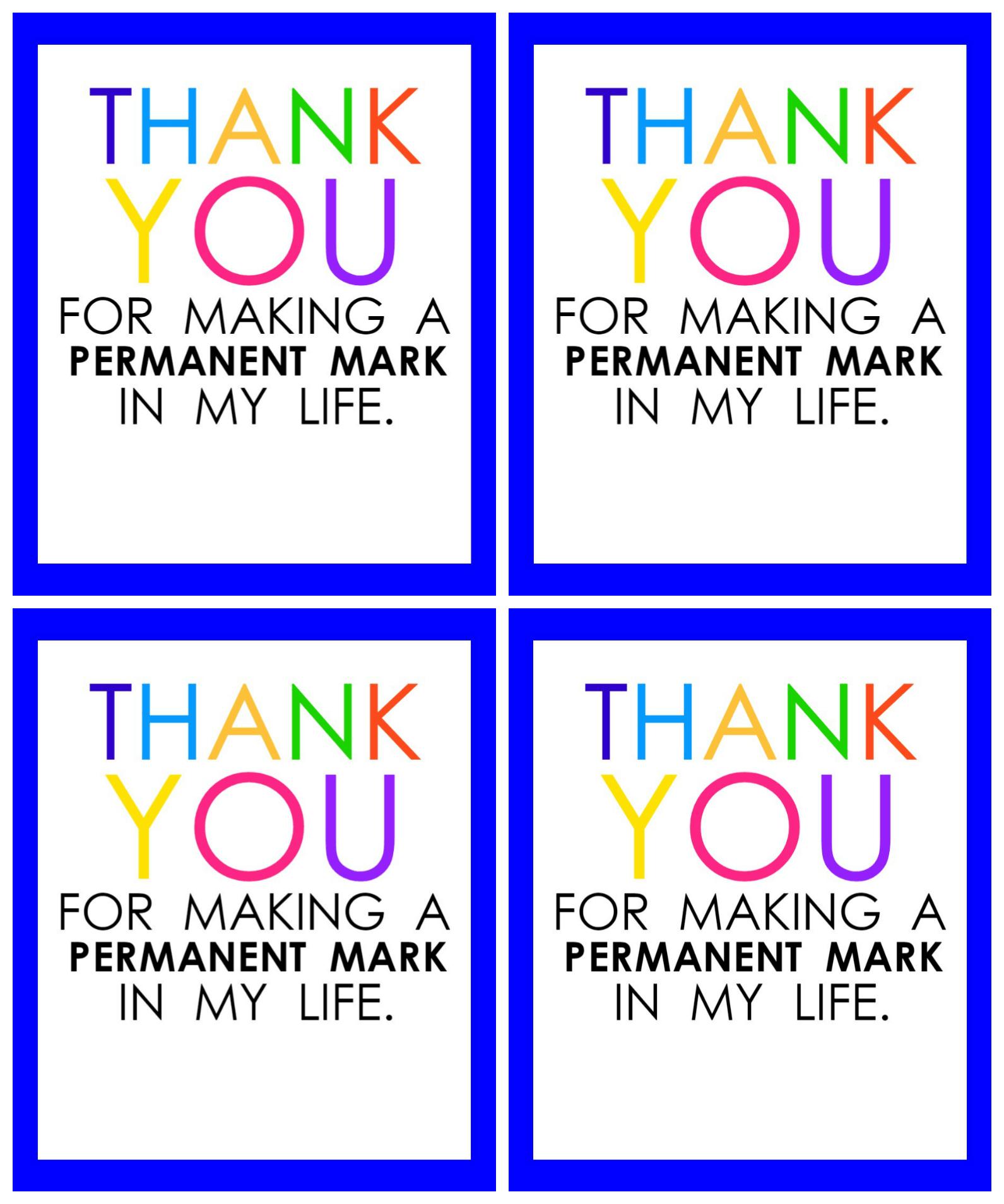 Teacher Appreciation Marker T Tag Free Printable