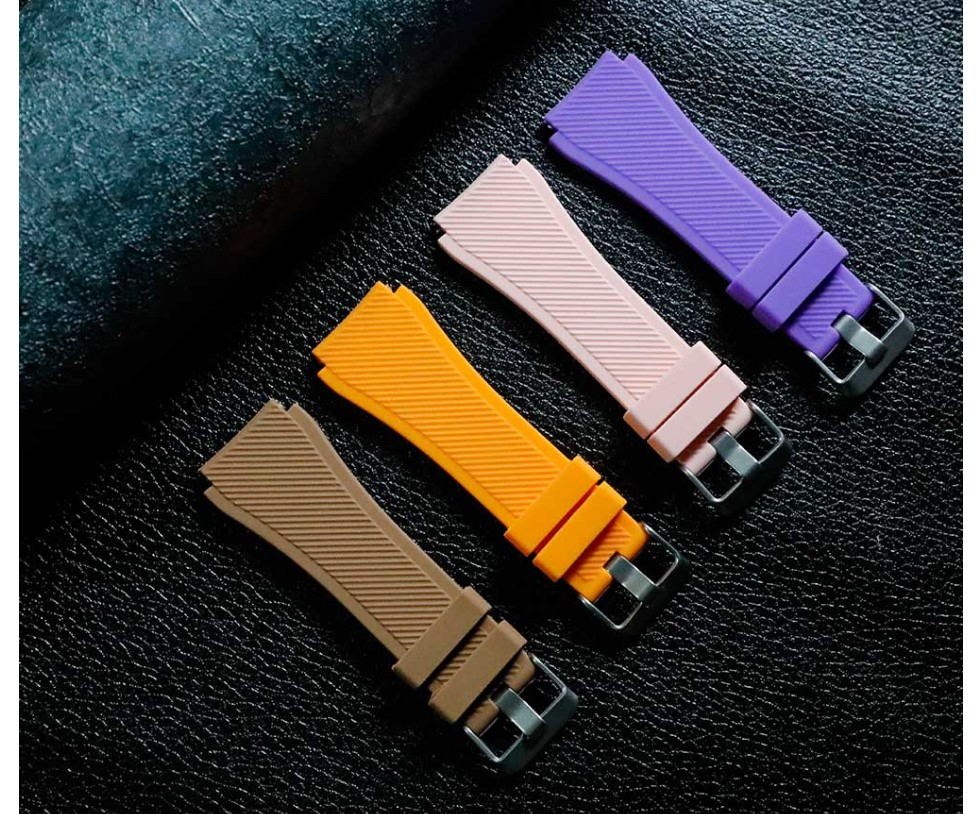 Textured Silicone Strap for Watch