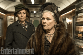 Olivia Colman and Judi Dench in MURDER ON THE ORIENT EXPRESS.