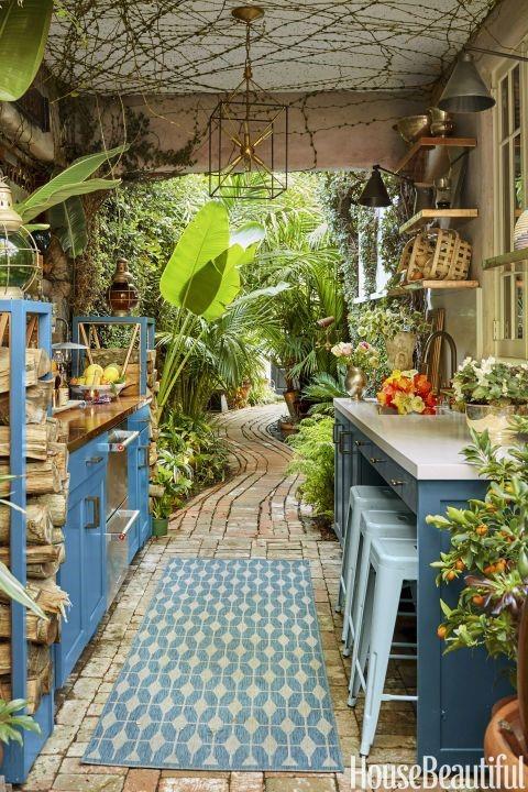 Garden outdoor kitchen ideas