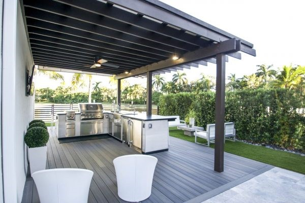 pergolas outdoor kitchen ideas