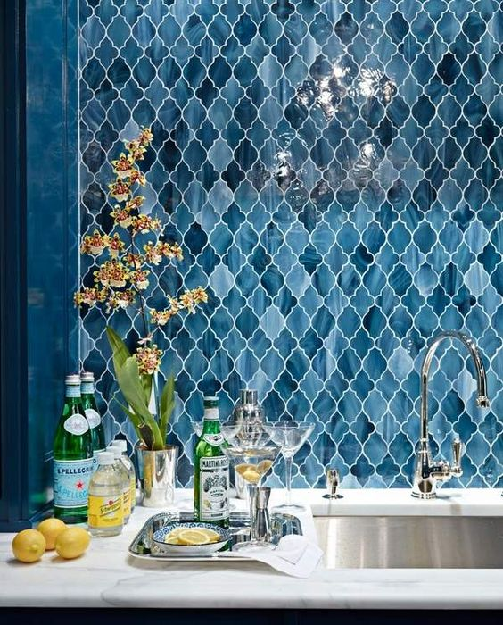 Arabesque Pattern Kitchen Backsplash Ideas
