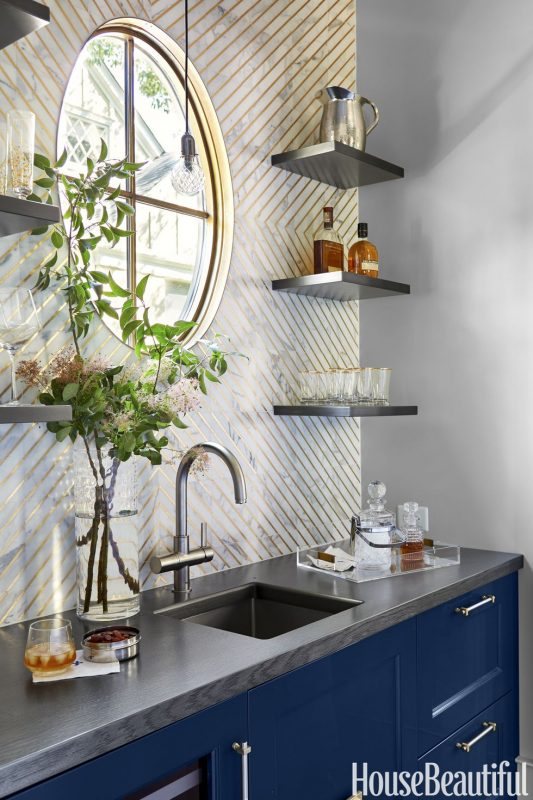 Creative Line Kitchen Backsplash Ideas de cocina