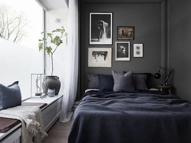 Dark and Bold Small Bedroom Ideas
