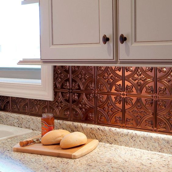 Glam Bronze Kitchen Backsplash Ideas