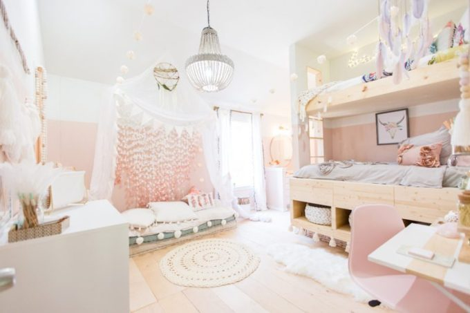 Boho Vintage Teenager Girl Bedroom