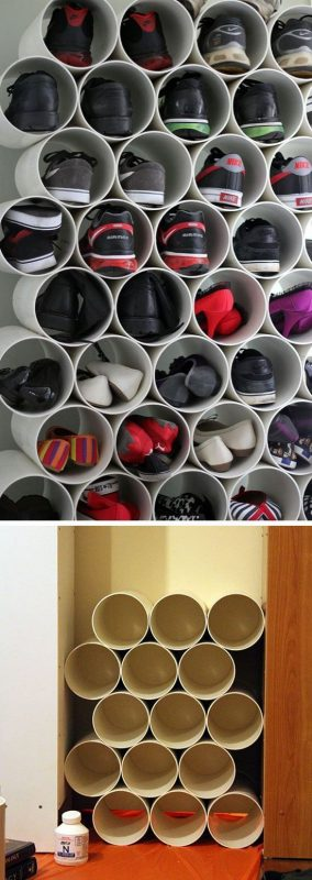 Inside the Pipe Bathroom Storage Ideas