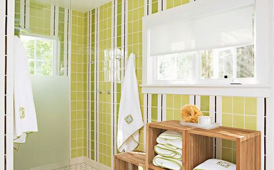 Vertical Stripes bathroom tiles ideas