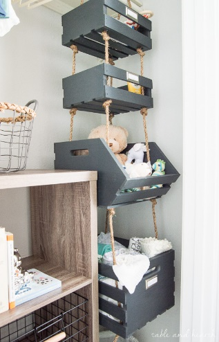 hanging closet storage organization ideas