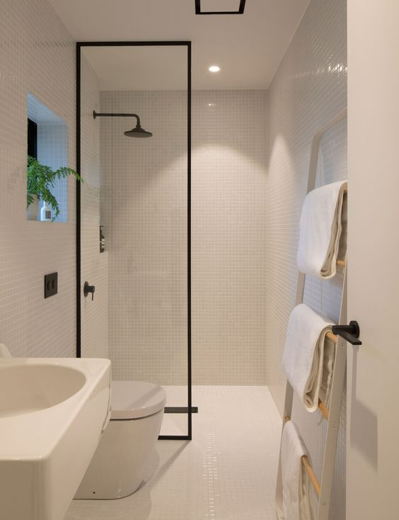 23 Stylish Small Bathroom Ideas to the Big Room Statement! on Small Space Small Bathroom Tiles Design  id=31688