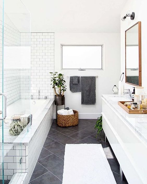 23 Stylish Small Bathroom Ideas to the Big Room Statement! on Small Space Small Bathroom Tiles Design  id=59051