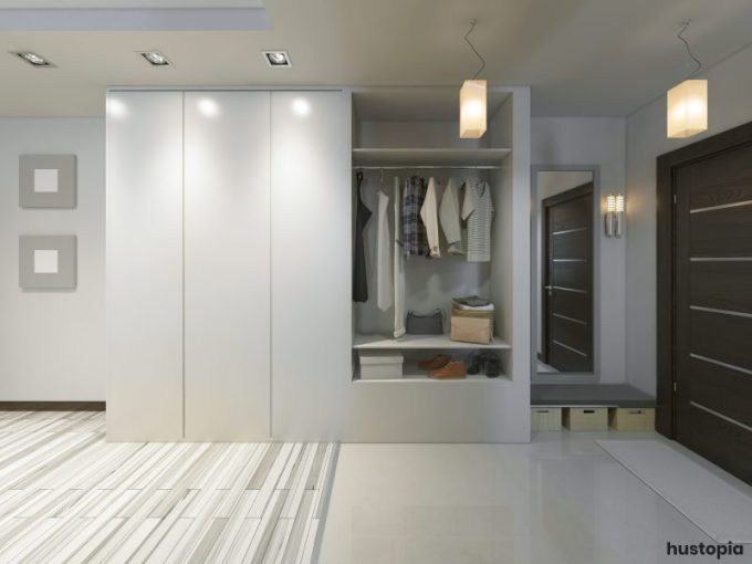 Modern closet door with double side spaces