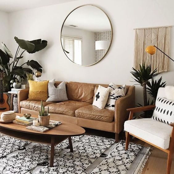 Brown-ish Apartment Living Room Ideas