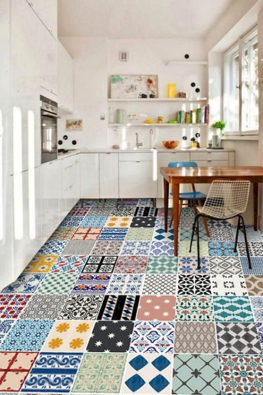 Dynamic Pattern for Kitchen Floor