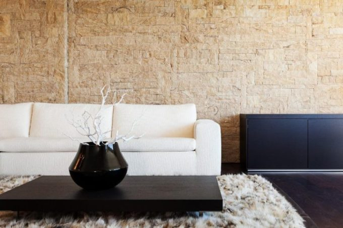 Natural Stone Wall for Living Room