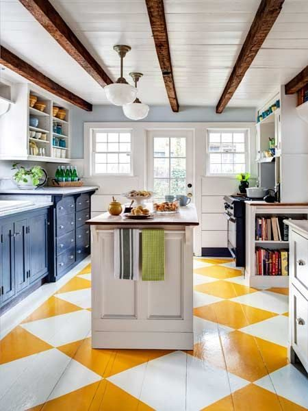 Painted Wood Kitchen Flooring Ideas
