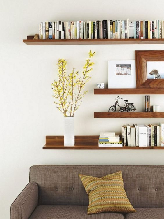 Storage Display for Apartment Living Room