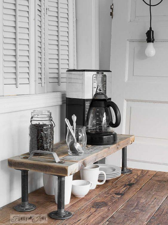 Rustic Home Coffee Bar Ideas