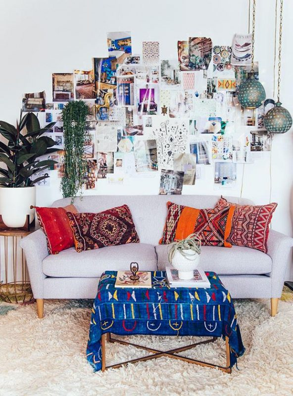 diy collage decor for boho Living Room