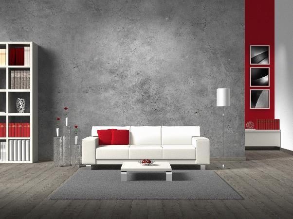 industrial contemporary living room