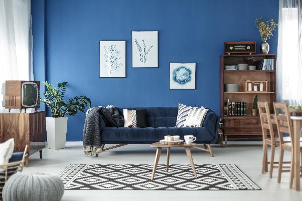 retro contemporary living room
