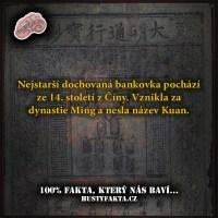 Nejstarší dochovaná bankovka