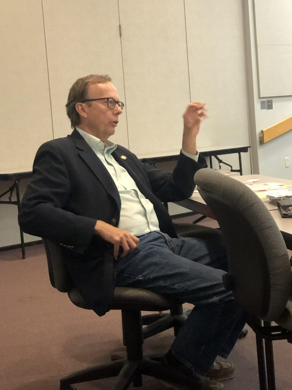 Paul Waggoner speaks at campus Town Hall