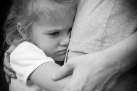 Child injury stressed hug adult