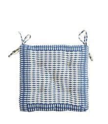 Le coussin carré bleu