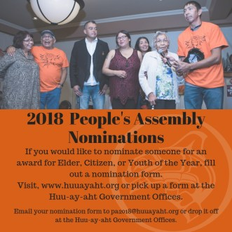 2018 People's AssemblyNominations