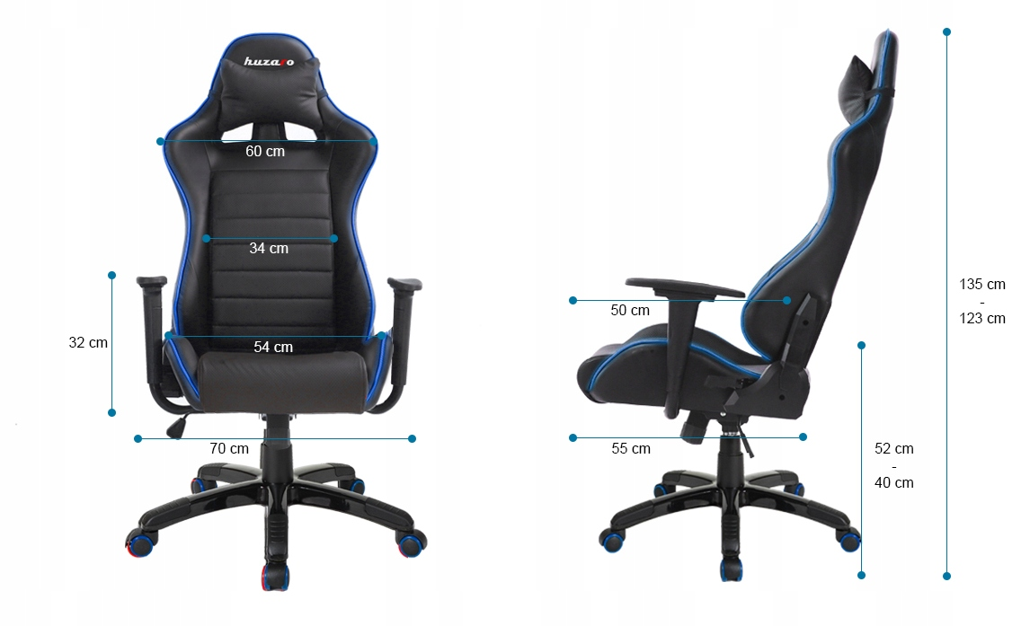 Gaming Chairs HUZARO FORCE 6.0 LED RGB