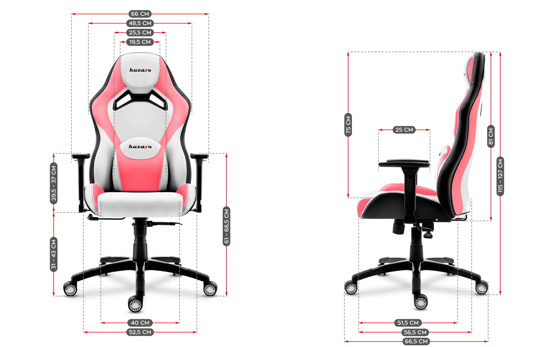 Gaming chair Force 7.3 Pink 9
