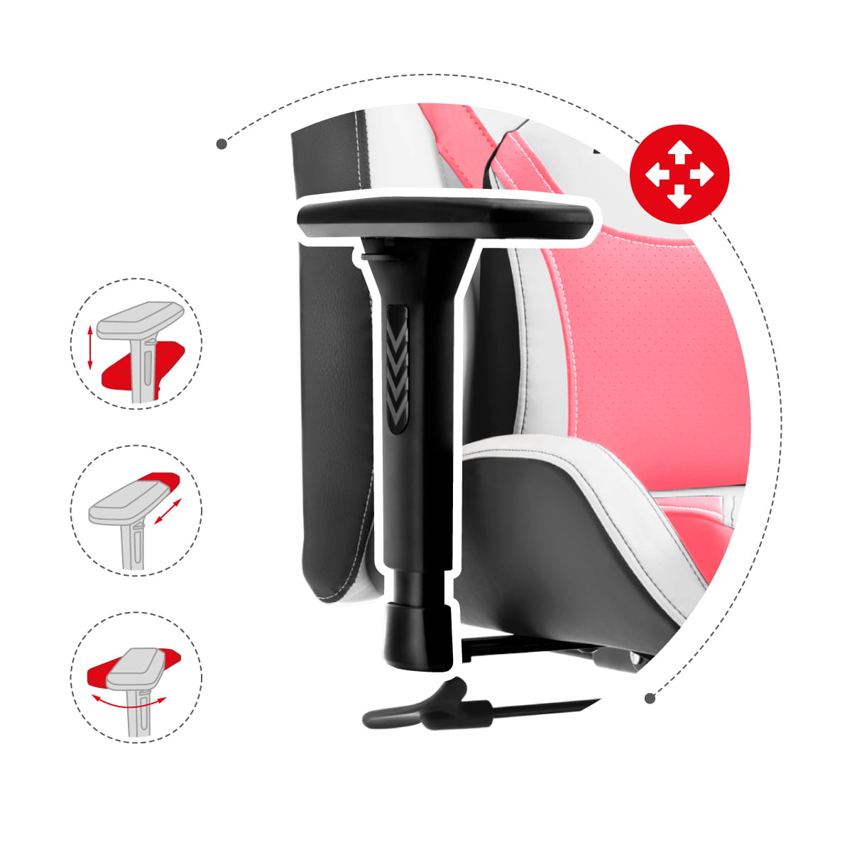 Gaming chair force 7.3 pink 6