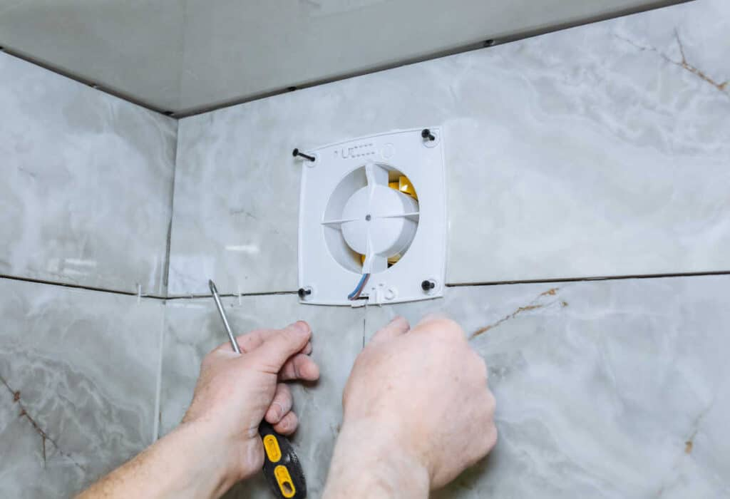 install a ductless bathroom exhaust fan