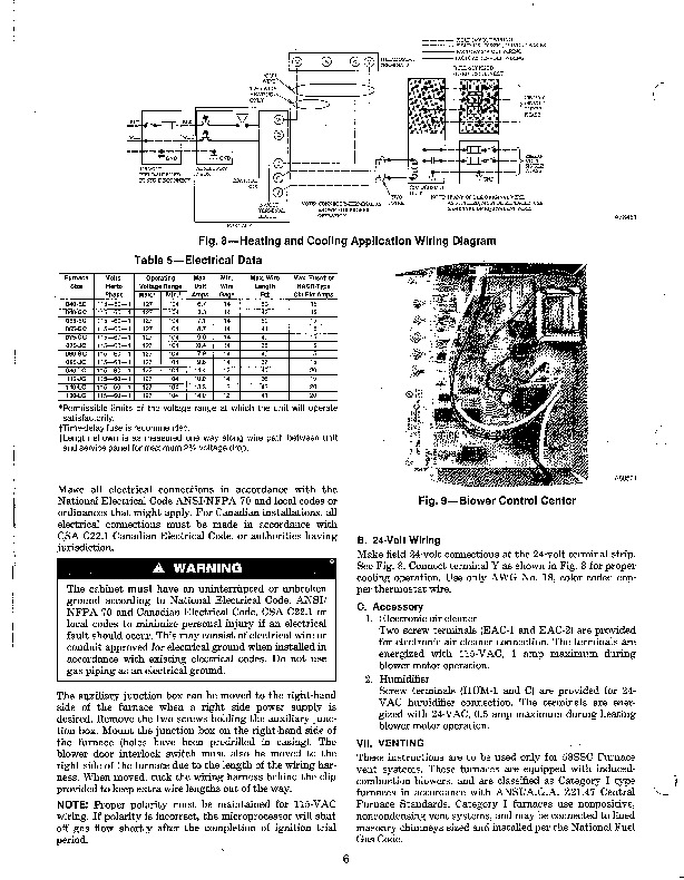 Carrier 58SSC 8SI Gas Furnace Owners Manual 6 carrier cnpvp2414ala wiring diagram diagram wiring diagrams for  at nearapp.co