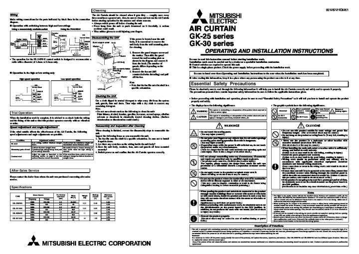 panasonic air conditioner installation manual pdf