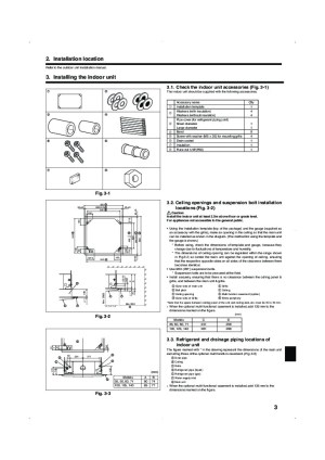 Mitsubishi Mr Slim PLA RP BA IM RG79D251K01 Ceiling Cassette Air Conditioner Installation Manual