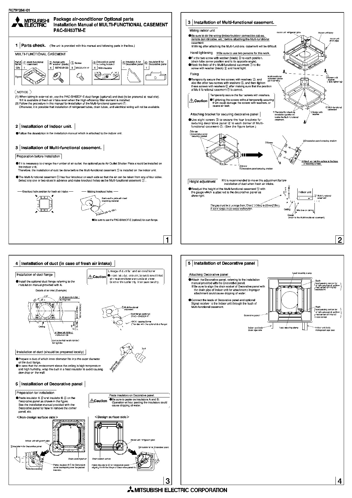 Mitsubishi PAC SH53TM E Air Conditioner Owners Installation Manual 1 sauermann si wiring diagram mitsubishi mitsubishi wiring diagram Sauermann Si 30 Installation Manual at gsmx.co