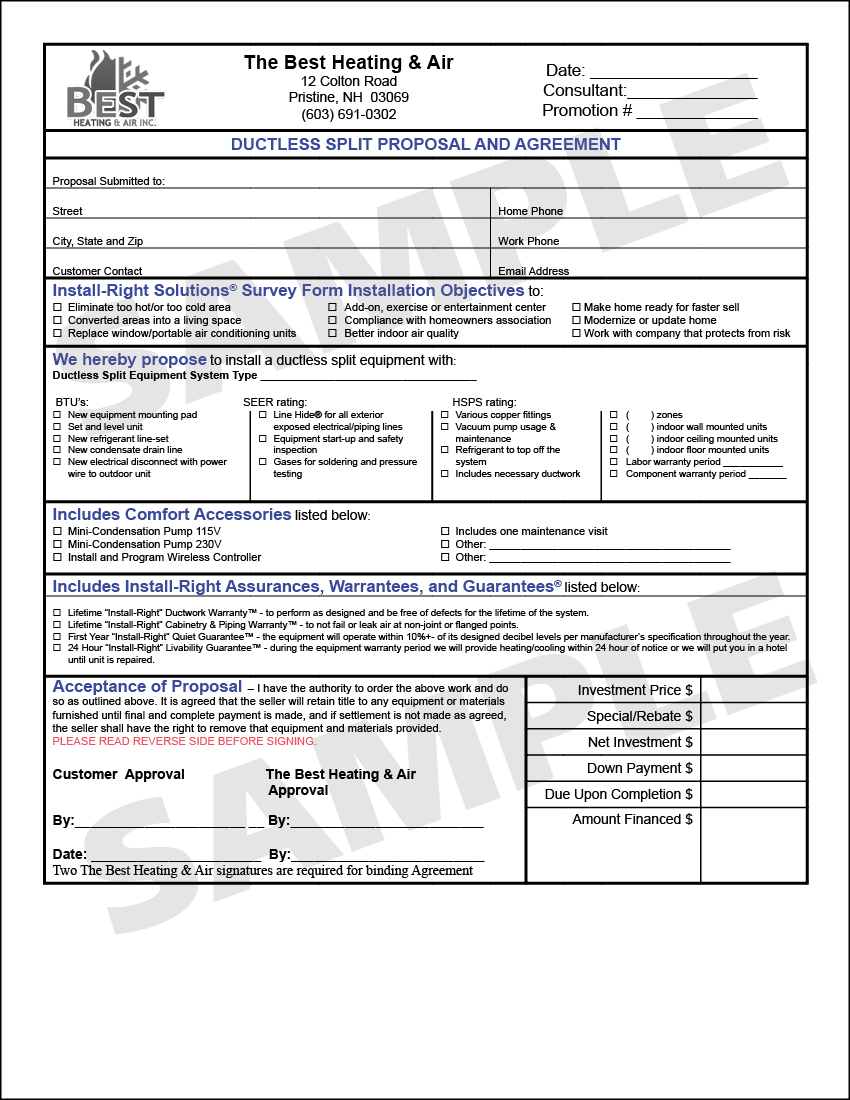 General purpose, fillable, hvac proposal form for use by heating,. Building Services Institute Grow My Hvac Reorder Forms Library