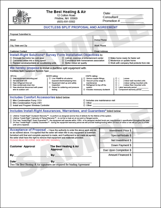 Hvac Proposals Template Free Download
