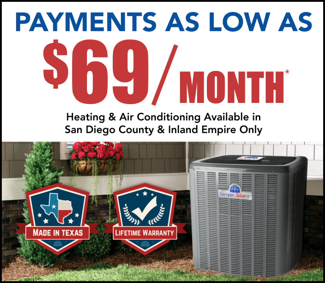 HVAC, Heating and air, replacement, inland empire, california