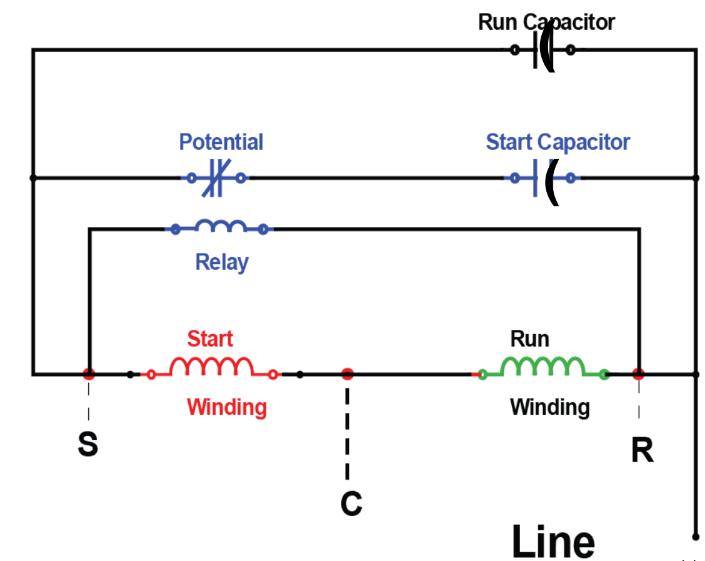hvac potential relay wiring diagram   35 wiring diagram