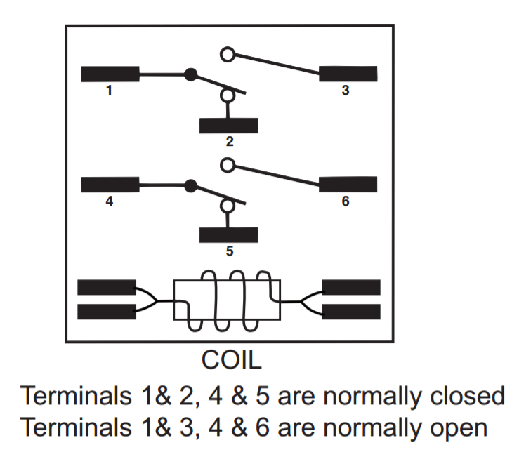 The Other Six Terminals Are Switchcontact And Relay Has A Diagram Embossed Right On Top For Easy Reference Way Circuit Is Drawn: Relay Coil Wiring Diagram At Aslink.org