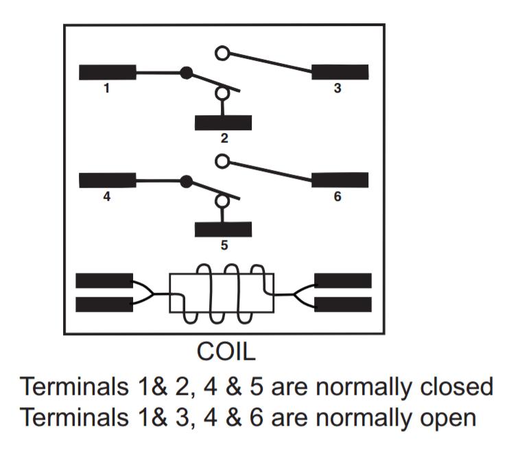 understanding relays with the 90 340 hvac school rh hvacrschool com AC Relay Wiring 5 Pin Relay Wiring Diagram