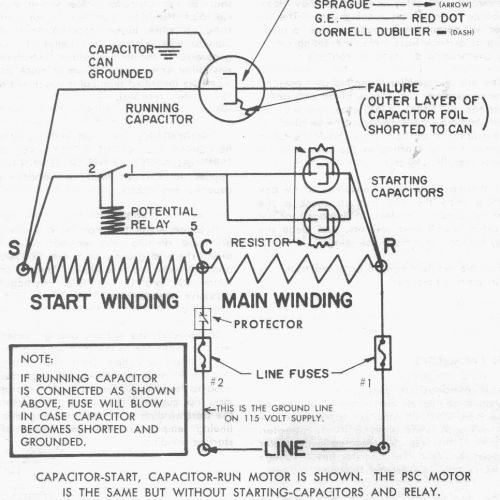 wiring a c compressor capacitor wiring diagram hd version